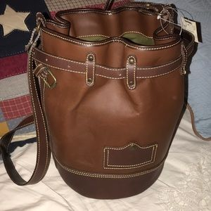 New Old Stock Francesco Biasia bucket leather bag